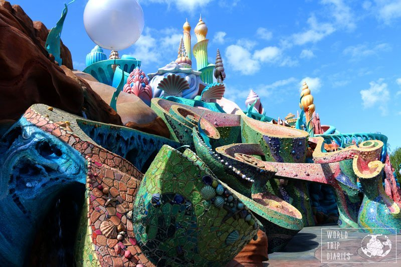 Tokyo Disney Sea's Mermaid Lagoon is stunning in every detail. It's the best part of the park for the little kids, and one of the prettiest, for sure.