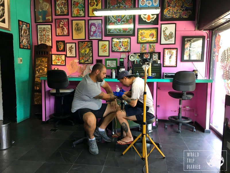 Santiago was one of the most troublesome places to have our travel tattoos done. But we did it!