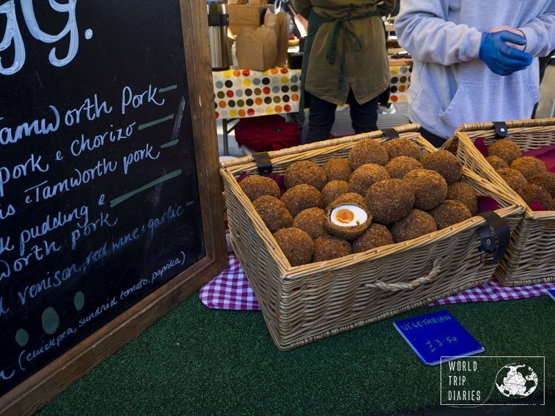 Scotch Eggs are readily available in Scotland, but the best we've tried were at Stockbridge Market! Pay a visit, you won't regret it! To know more, click along!