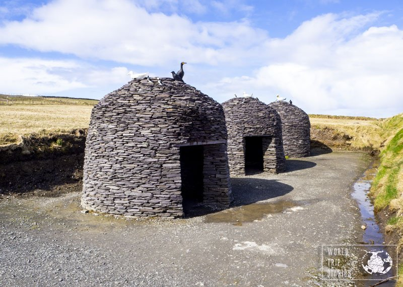A replica of Skellig Michael's huts at Kerry Cliffs. They do seem to have come from a different galaxy - I can see why they were used for Star Wars.