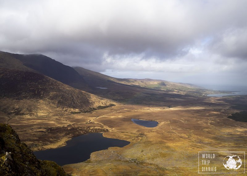 Ireland's County Kerry seen from one of the mountains - a heart shaped lake in the middle of the photo. It's beautiful everywhere, the perfect place for holidays!