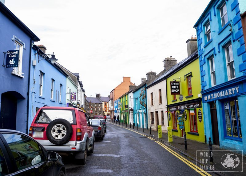 Colorful houses in Dingle, Ireland. The kids had fun with the name (well, Dingle is a funny name), and I feel in love with the colors!