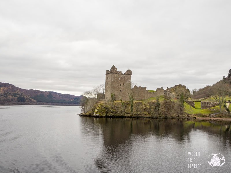 Urquhart Castle's ruins, in Scotland, in front of Loch Ness. Just another stunning castle ruin in Scotland because they can.