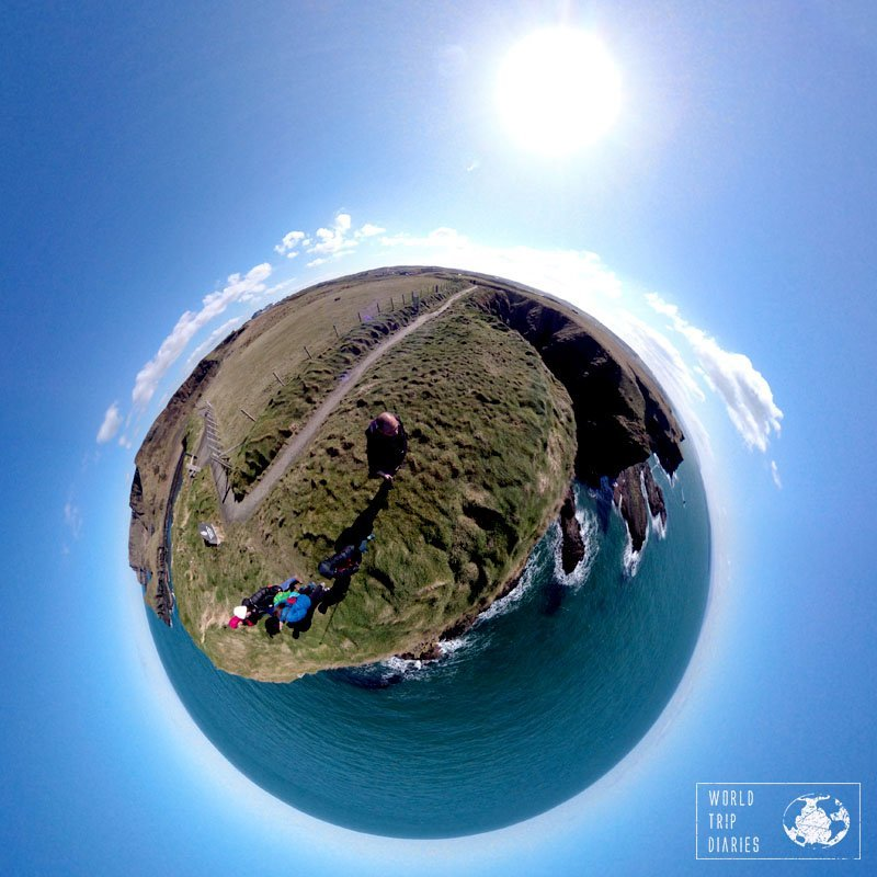 A 360 photo of one of the easy trails around Giants Causeway, in Northern Ireland. It was one of the kids' favorite days so far!
