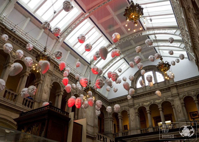 The floating heads at Kelvingrove Art Gallery and Museum, in Glasgow, Scotland. It's one great museum for people of all ages!