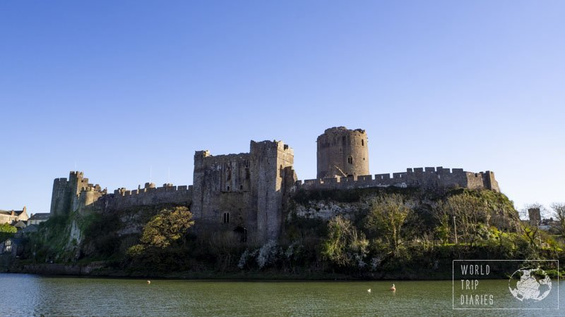 Pembroke Castle is a beautiful castle in Wales. Click for more!
