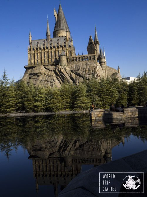 Hogwarts Castle is one stunning sight. The lake makes all the difference.