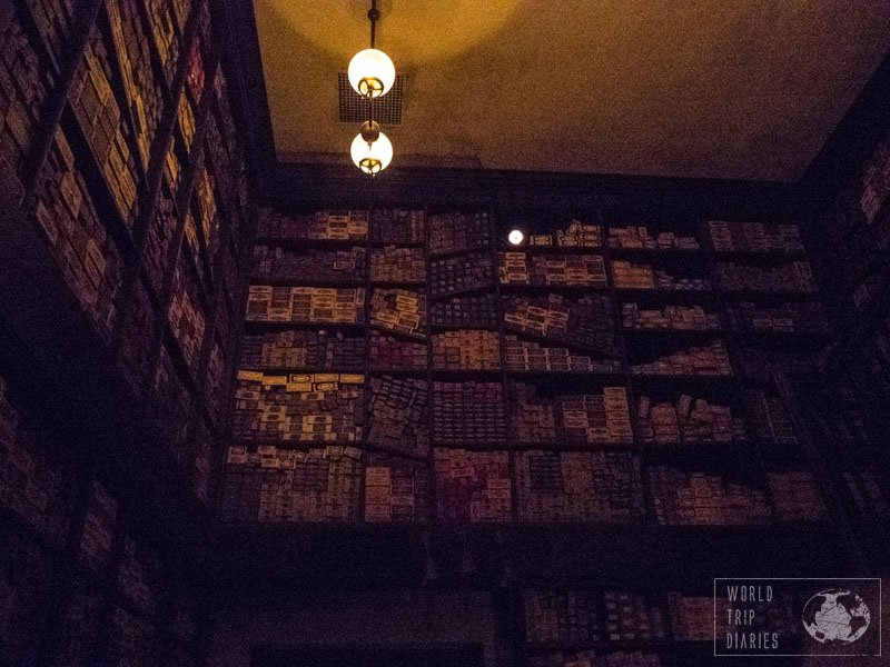 The Wizarding World of Harry Potter is magical all around. This is inside Ollivander's shop.