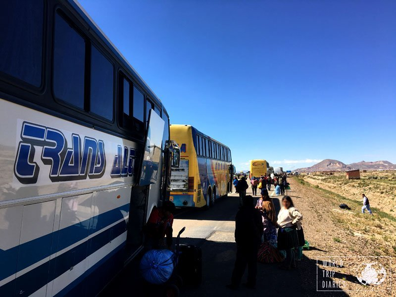 roadblock bus oruro bolivia