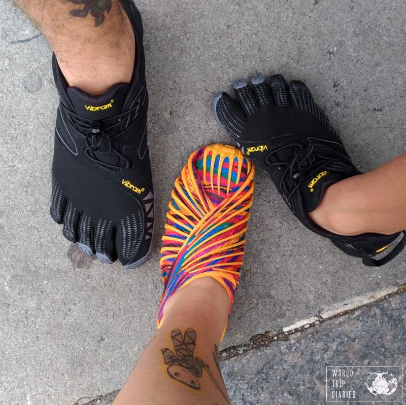 The three pairs of Vibram barefoot shoes - long-lasting, comfortable, and stylish!